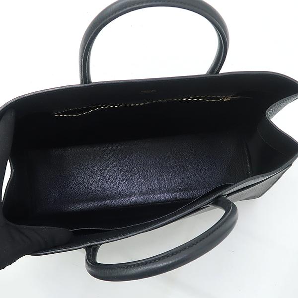 Hermes(에르메스) 블랙컬러 레더 화이트버스 GM 사이즈 토트백 [강남본점] 이미지4 - 고이비토 중고명품