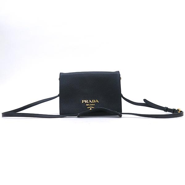 Prada(프라다) 1BD102 비텔로다이노 블랙 컬러 금장 로고 미니 숄더백 + 크로스스트랩 [강남본점] 이미지2 - 고이비토 중고명품