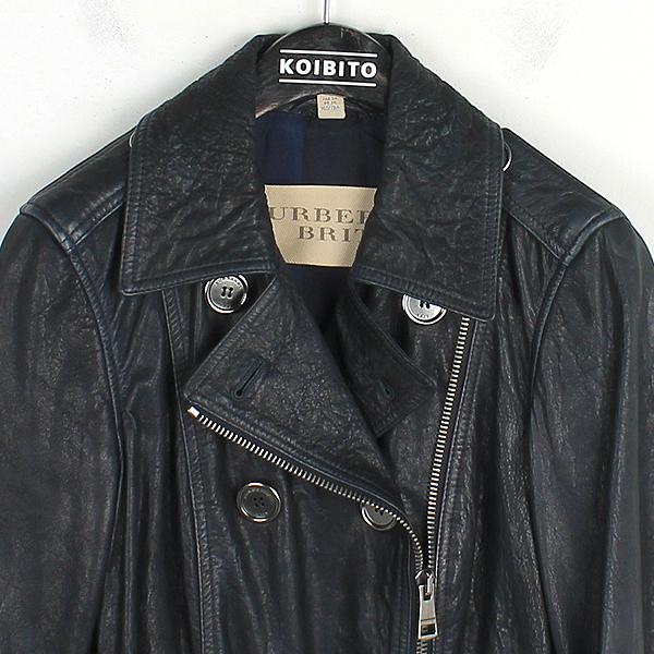 Burberry(버버리) 3824159 다크 네이비 컬러 가죽 코트 [강남본점] 이미지2 - 고이비토 중고명품