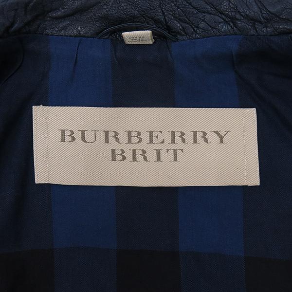Burberry(버버리) 3824159 다크 네이비 컬러 가죽 코트 [강남본점] 이미지5 - 고이비토 중고명품