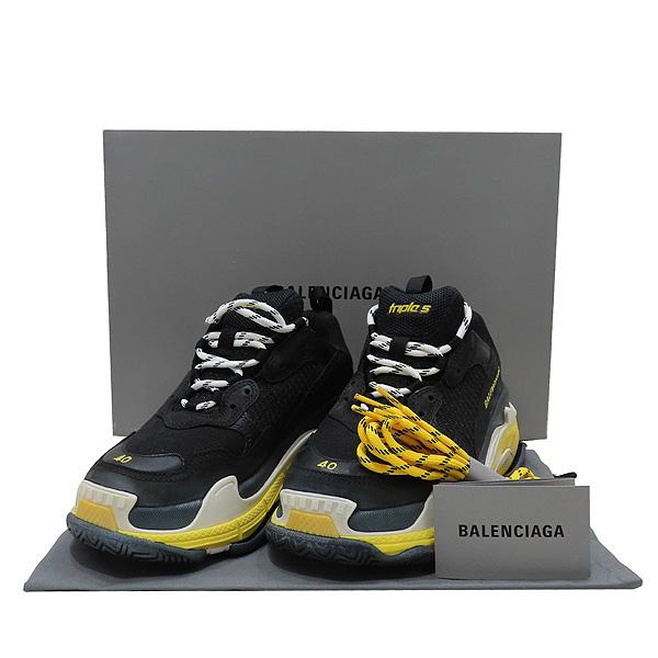 Balenciaga(발렌시아가) 534162 블랙 옐로우 트리플 S 트레이너 스니커즈 - 40 (250MM) [인천점]