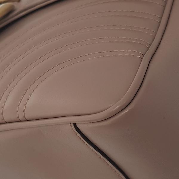 Gucci(구찌) 498110 라이트 핑크 레더 마틀라쎄 금장 마몬트 탑 핸들 토트백+ 숄더스트랩 2WAY [잠실점] 이미지6 - 고이비토 중고명품