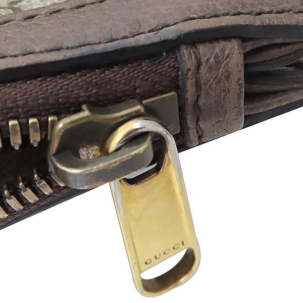 Gucci(구찌) 523359 GG 로고 장식 브라운 레더 PVC 트리밍 오피디아 클러치백 [부산서면롯데점] 이미지5 - 고이비토 중고명품