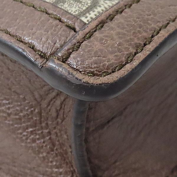 Gucci(구찌) 523359 GG 로고 장식 브라운 레더 PVC 트리밍 오피디아 클러치백 [부산서면롯데점] 이미지7 - 고이비토 중고명품