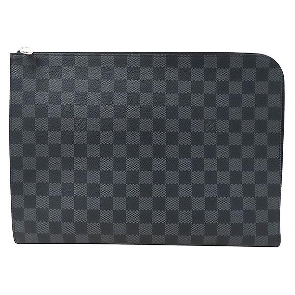 Louis Vuitton(루이비통) N64437 다미에 그라파이트 캔버스 포쉐트 주르 GM 클러치 [부산서면롯데점] 이미지2 - 고이비토 중고명품
