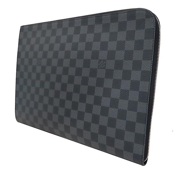 Louis Vuitton(루이비통) N64437 다미에 그라파이트 캔버스 포쉐트 주르 GM 클러치 [부산서면롯데점] 이미지3 - 고이비토 중고명품