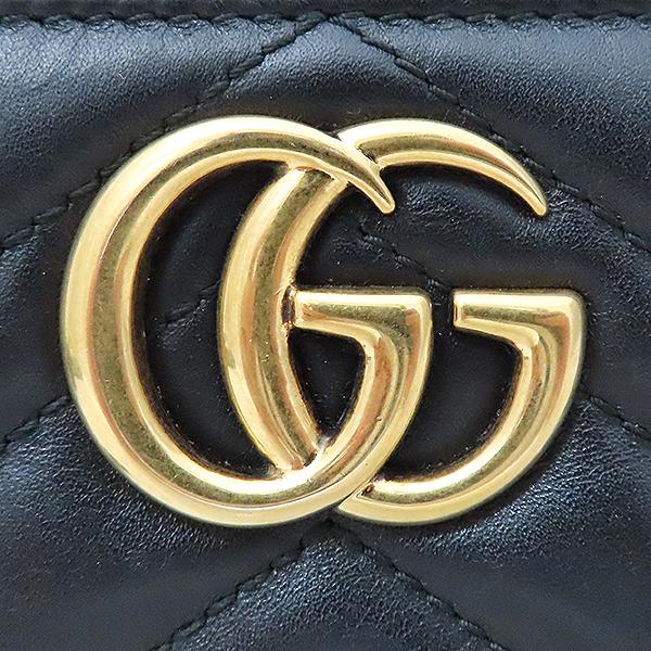 Gucci(구찌) 443123 블랙 레더 GG 마몬트 장지갑 [부산서면롯데점] 이미지5 - 고이비토 중고명품
