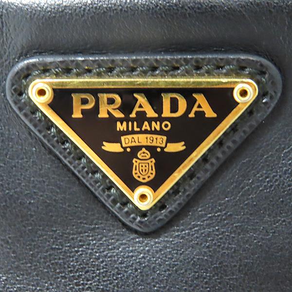 Prada(프라다) 1BH038 블랙 SOFT CALF+SAFFI 트리밍 레더 버킷 토트백 + 크로스스트랩 [대전본점] 이미지5 - 고이비토 중고명품