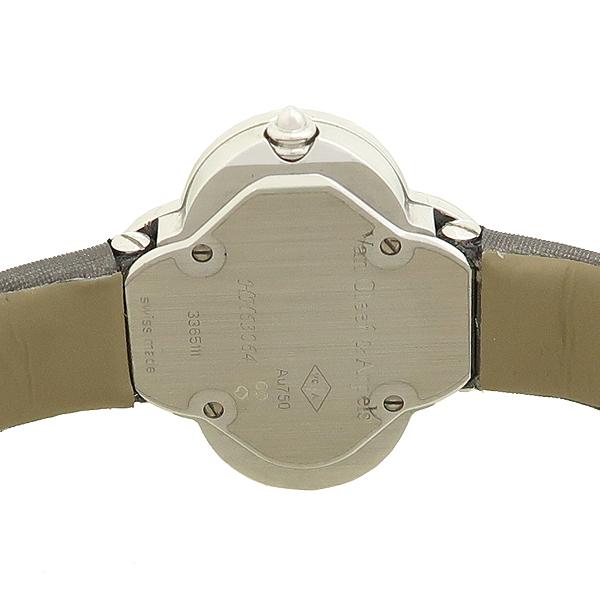 VANCLEEF & ARPELS (반클리프 앤 아펠) 18K 화이트 골드 베젤 다이아 알함브라 스몰 실크밴드 여성용 시계 [강남본점] 이미지4 - 고이비토 중고명품