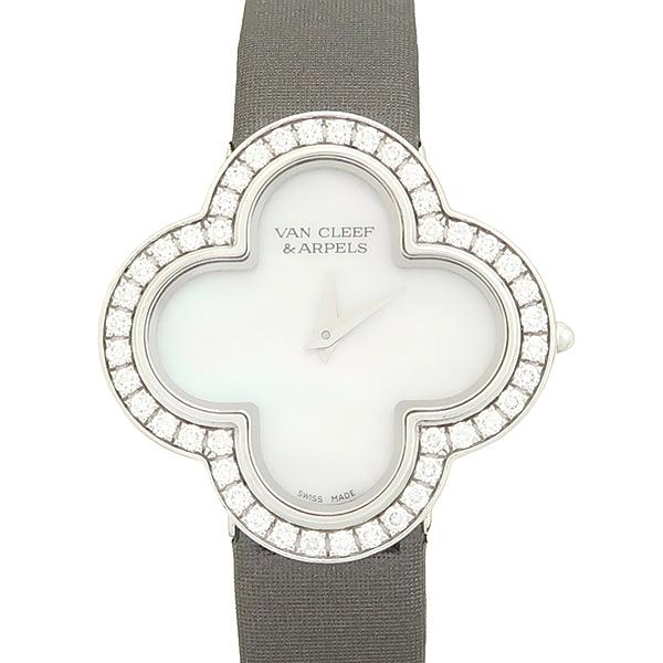 VANCLEEF & ARPELS (반클리프 앤 아펠) 18K 화이트 골드 베젤 다이아 알함브라 스몰 실크밴드 여성용 시계 [강남본점] 이미지5 - 고이비토 중고명품