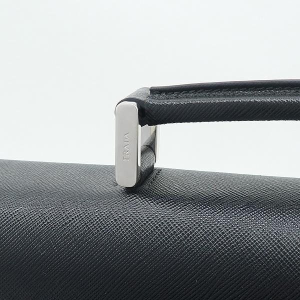 Prada(프라다) VR0006 블랙 사피아노 은장로고 서류 가방 [강남본점] 이미지4 - 고이비토 중고명품