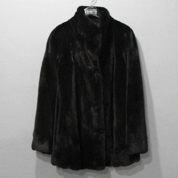 JINDO(진도) 블랙그라마 브라운 여성용 하프 밍크 코트 [대구반월당본점]