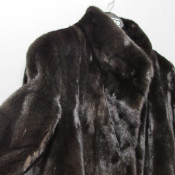 JINDO(진도) 블랙그라마 브라운 여성용 하프 밍크 코트 [대구반월당본점] 이미지4 - 고이비토 중고명품