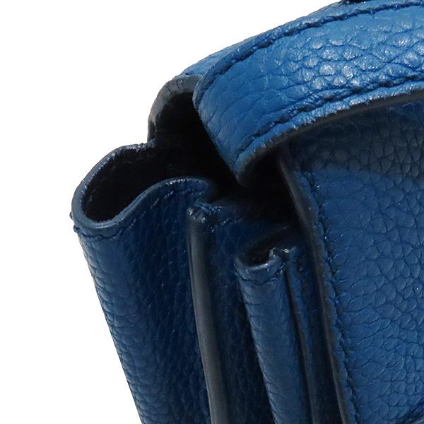 Ferragamo(페라가모) 21 F868 블루 레더 금장 간치니 로고 에이블리 크로스백 [인천점] 이미지4 - 고이비토 중고명품