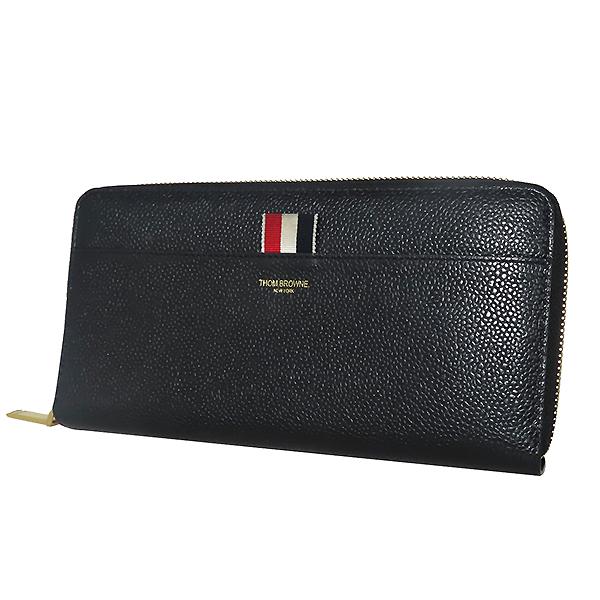 THOM BROWNE(톰브라운) FAW012A 0019 001 블랙 레더 페블 집업 장지갑 [대전본점] 이미지3 - 고이비토 중고명품
