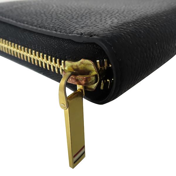 THOM BROWNE(톰브라운) FAW012A 0019 001 블랙 레더 페블 집업 장지갑 [대전본점] 이미지5 - 고이비토 중고명품