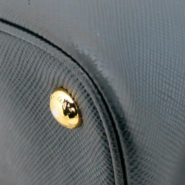 Prada(프라다) 1BG775 블랙 컬러 사피아노 금장 삼각 로고 장식 두블레 토트백 + 숄더스트랩 2WAY [동대문점] 이미지5 - 고이비토 중고명품