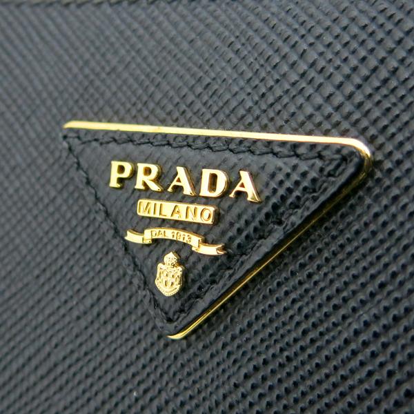 Prada(프라다) 1BG775 블랙 컬러 사피아노 금장 삼각 로고 장식 두블레 토트백 + 숄더스트랩 2WAY [동대문점] 이미지6 - 고이비토 중고명품