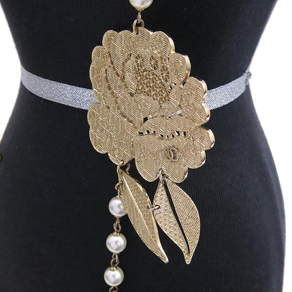 Chanel(샤넬) 로즈 장식 커스텀 진주 목걸이 [강남본점] 이미지2 - 고이비토 중고명품