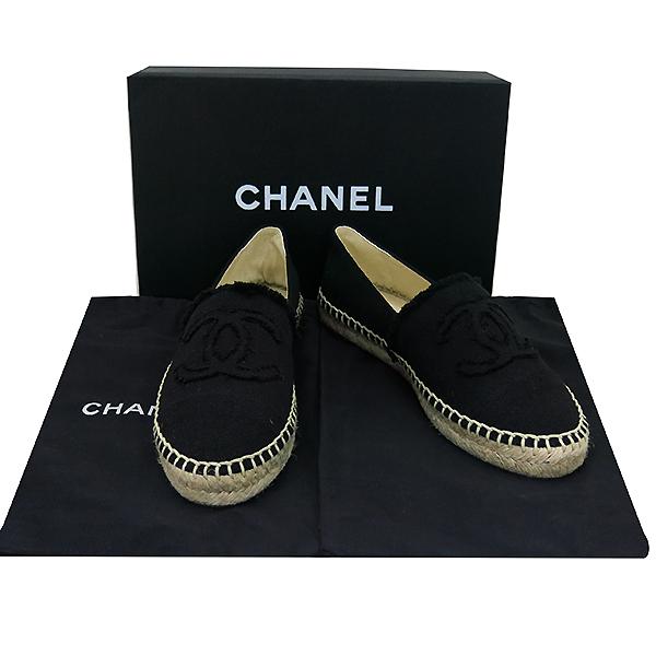 Chanel(샤넬) G29762 COCO 로고 블랙 컬러 여성용 에스파듀 여성용 스니커즈 [부산센텀본점]
