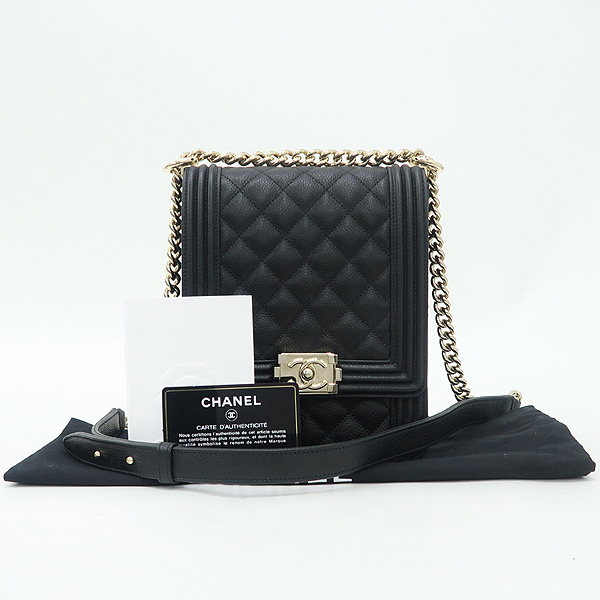 Chanel(샤넬) AS0130B01694 블랙 캐비어스킨 보이샤넬 크로스백 [강남본점]