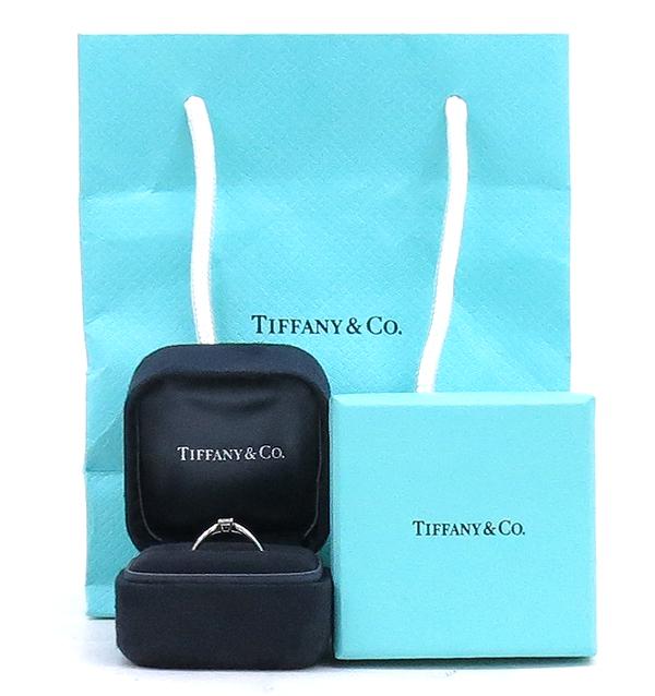 Tiffany(티파니) PT950(플래티늄) 0.19CT 다이아 웨딩 반지 - 10호 / 티파니 정식매장 사이즈 조절가능 [강남본점]