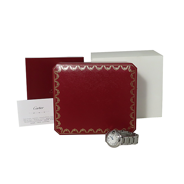 Cartier(까르띠에) W69010Z4 발롱블루 드 까르띠에 S사이즈 쿼츠 28MM 스틸 여성용 시계 [대전본점]