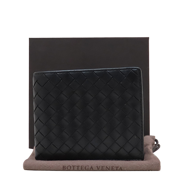BOTTEGAVENETA(보테가베네타) 113993 인트레치아토 블랙 컬러 8크레딧카드 반지갑 [인천점]