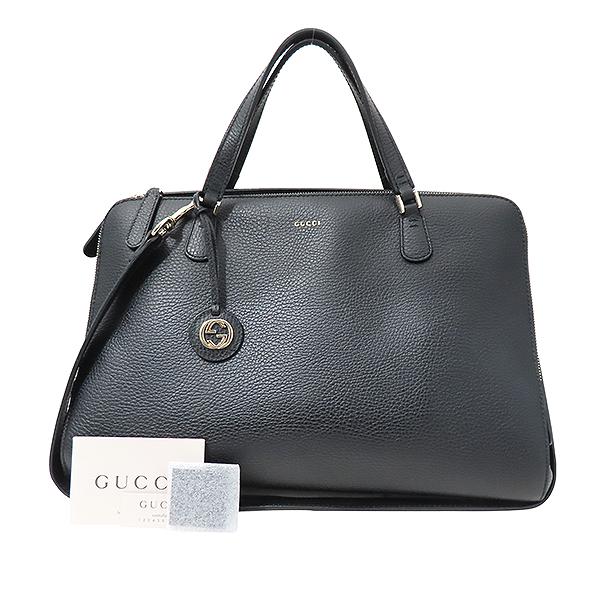 Gucci(구찌) 388558 블랙 컬러 레더 + 숄더스트랩 2WAY  [부산서면롯데점]