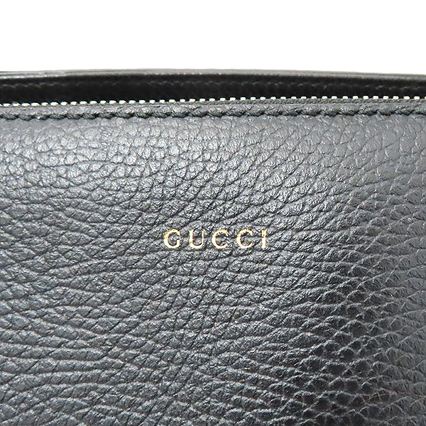 Gucci(구찌) 388558 블랙 컬러 레더 + 숄더스트랩 2WAY  [부산서면롯데점] 이미지5 - 고이비토 중고명품