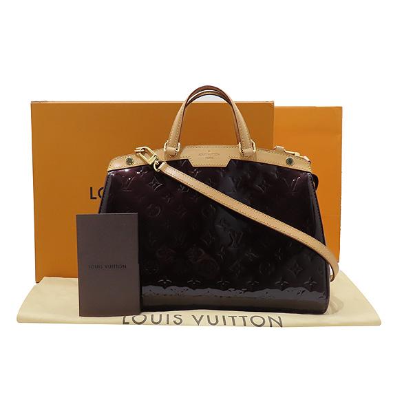 Louis Vuitton(루이비통) M91619 모노그램 베르니 아마랑뜨 브레아 MM 토트백 + 숄더스트랩 [인천점]
