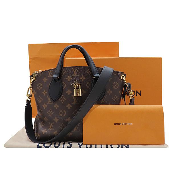 Louis Vuitton(루이비통) M44351 모노그램 캔버스 NOIR(느와르) 플라워 지퍼 PM 토트백 + 숄더스트랩 [인천점]