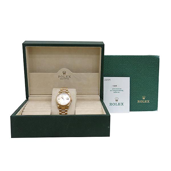 Rolex(로렉스) 118238 18K 금통 10포인트 다이아 DAY DATE(데이 데이트) 남성용 시계 [부산센텀본점]