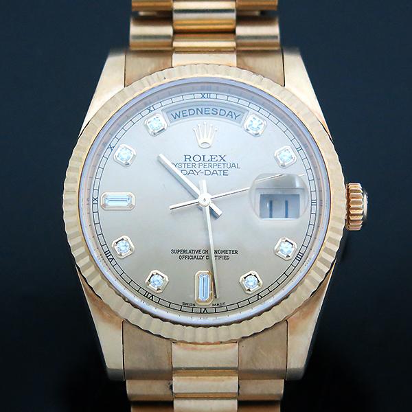 Rolex(로렉스) 118238 18K 금통 10포인트 다이아 DAY DATE(데이 데이트) 남성용 시계 [부산센텀본점] 이미지2 - 고이비토 중고명품