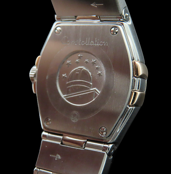 Omega(오메가) 123.20.24.60.55.005 화이트 자개판 18K 골드 콤비 베젤 12포인트 다이아 컨스틸레이션 쿼츠 여성용 시계 [인천점] 이미지6 - 고이비토 중고명품
