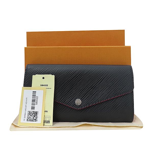 Louis Vuitton(루이비통) M64322 블랙 에삐 사라 월릿 장지갑 [부산서면롯데점]