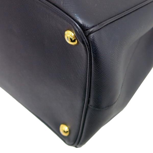 Prada(프라다) B1786T 블랙 레더 사피아노 럭스 금장 삼각 로고 토트백 + 숄더스트랩 2WAY [동대문점] 이미지5 - 고이비토 중고명품