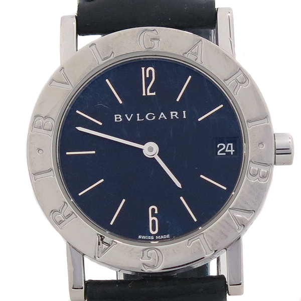 Bvlgari(불가리) BB30SL BVLGARI BVLGARI (불가리 불가리) 메탈 라운드 가죽 밴드 남여 공용 시계 [강남본점]