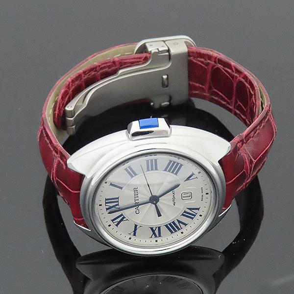 Cartier(까르띠에) WSCL0016 끌레 드 까르띠에 31MM 오토매틱 엘레게이터 가죽 여성용 시계 [부산서면롯데점] 이미지4 - 고이비토 중고명품