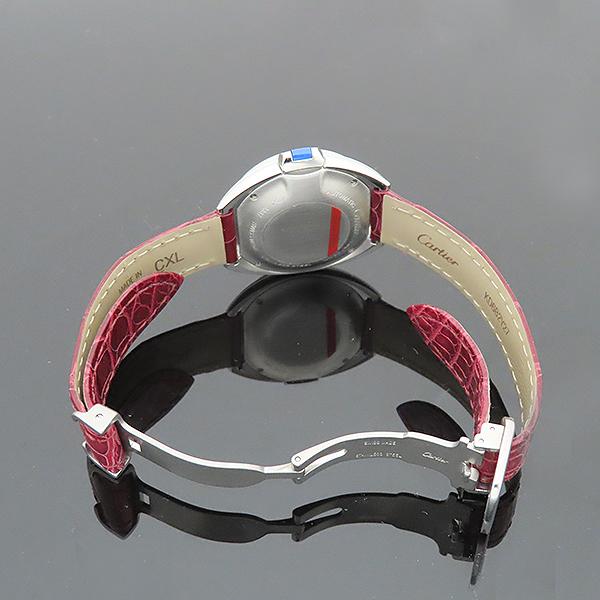 Cartier(까르띠에) WSCL0016 끌레 드 까르띠에 31MM 오토매틱 엘레게이터 가죽 여성용 시계 [부산서면롯데점] 이미지7 - 고이비토 중고명품