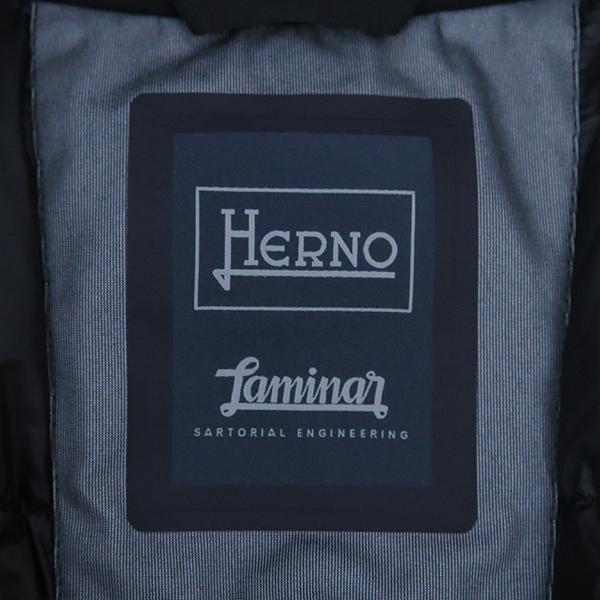 HERNO(에르노) 블랙 컬러 남성용 싱글 패딩 코트 [강남본점] 이미지4 - 고이비토 중고명품