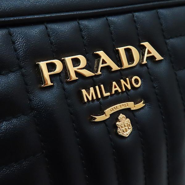 Prada(프라다) 1BH083 블랙 레더 다이아그램 금장 로고 체인 숄더 크로스백 [인천점] 이미지4 - 고이비토 중고명품