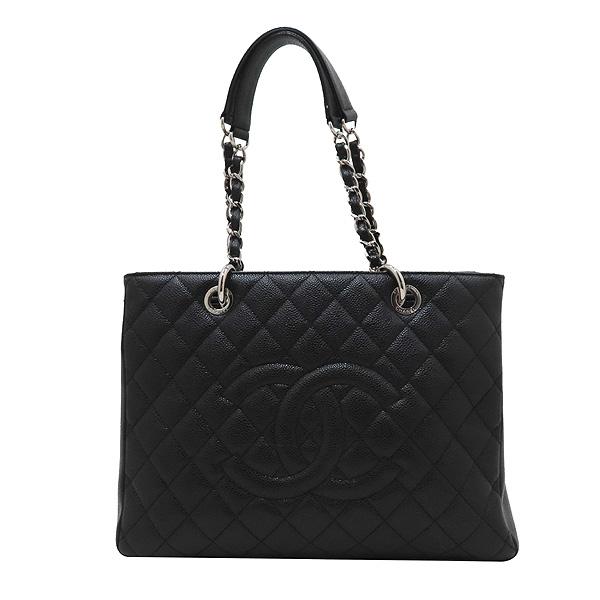 Chanel(샤넬) A50995 캐비어스킨 블랙 그랜드샤핑 은장 체인 숄더백 [인천점] 이미지2 - 고이비토 중고명품