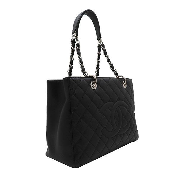 Chanel(샤넬) A50995 캐비어스킨 블랙 그랜드샤핑 은장 체인 숄더백 [인천점] 이미지3 - 고이비토 중고명품