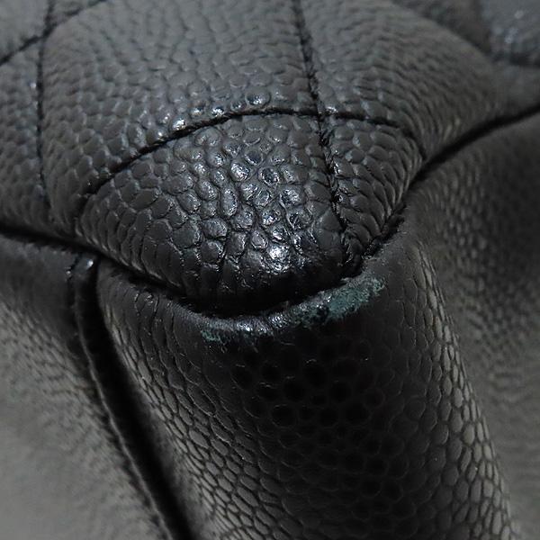 Chanel(샤넬) A50995 캐비어스킨 블랙 그랜드샤핑 은장 체인 숄더백 [인천점] 이미지6 - 고이비토 중고명품
