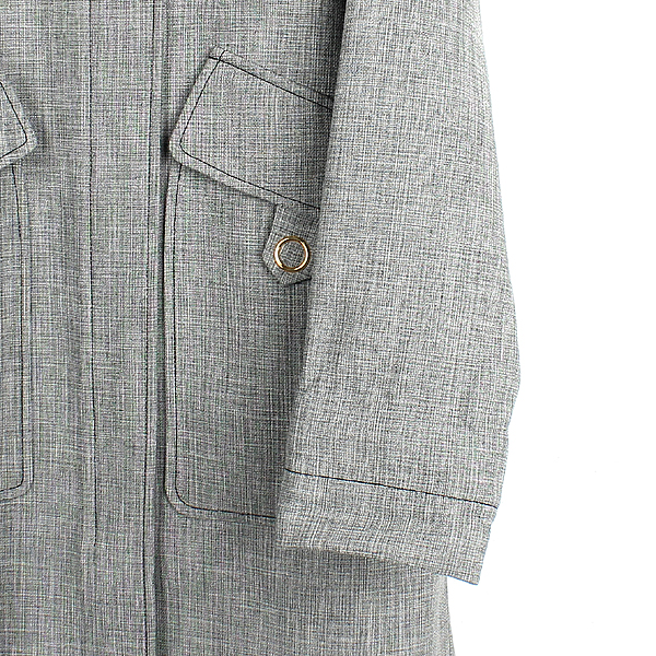 Dior(크리스챤디올) 7C21806UI358 울 + 비스코사 + 린넨 혼방 그레이 컬러 스카프 장식 여성용 코트 [강남본점] 이미지2 - 고이비토 중고명품