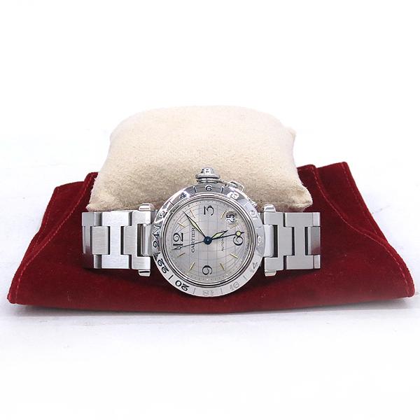 Cartier(까르띠에) W31029M7 PASHA DE CARTIER 파샤 오토매틱 GMT 지구본 다이얼 스틸 남여공용시계 [강남본점]