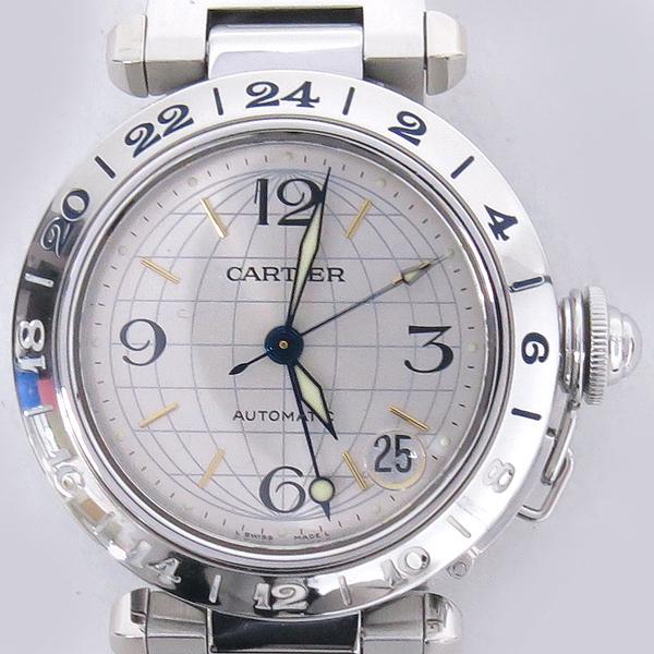 Cartier(까르띠에) W31029M7 PASHA DE CARTIER 파샤 오토매틱 GMT 지구본 다이얼 스틸 남여공용시계 [강남본점] 이미지2 - 고이비토 중고명품