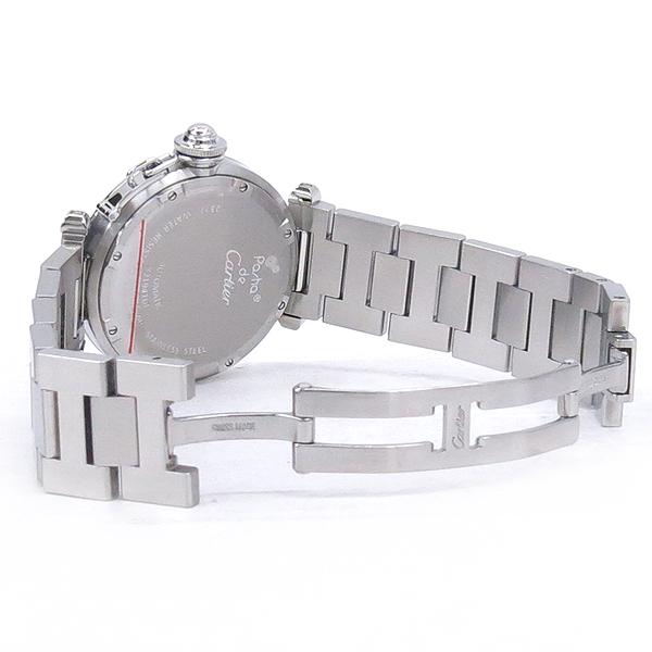 Cartier(까르띠에) W31029M7 PASHA DE CARTIER 파샤 오토매틱 GMT 지구본 다이얼 스틸 남여공용시계 [강남본점] 이미지3 - 고이비토 중고명품