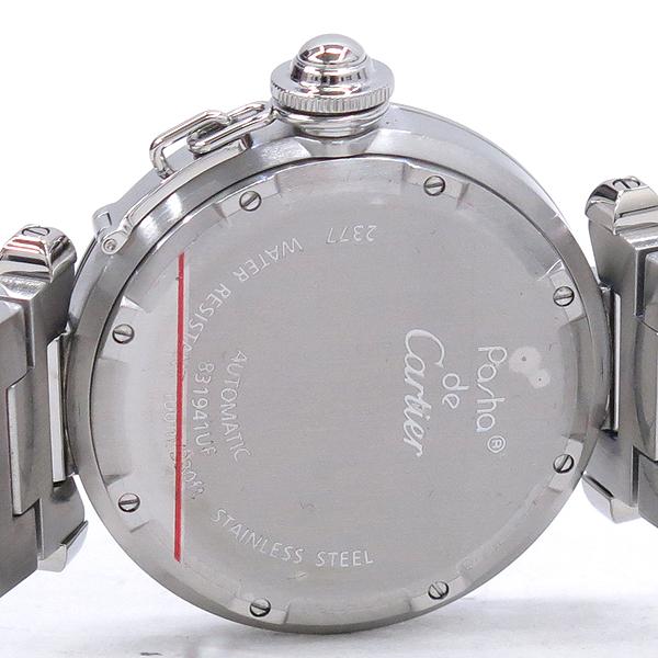 Cartier(까르띠에) W31029M7 PASHA DE CARTIER 파샤 오토매틱 GMT 지구본 다이얼 스틸 남여공용시계 [강남본점] 이미지4 - 고이비토 중고명품